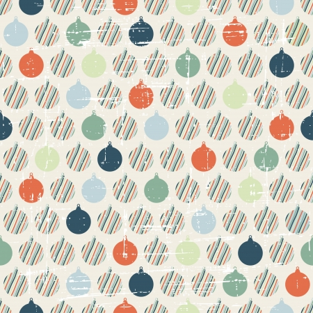 Christmas and Holidays seamless pattern with balls Stock Vector - 16063179