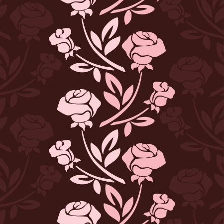 arrangement: Floral seamless pattern with rose in pastel tones