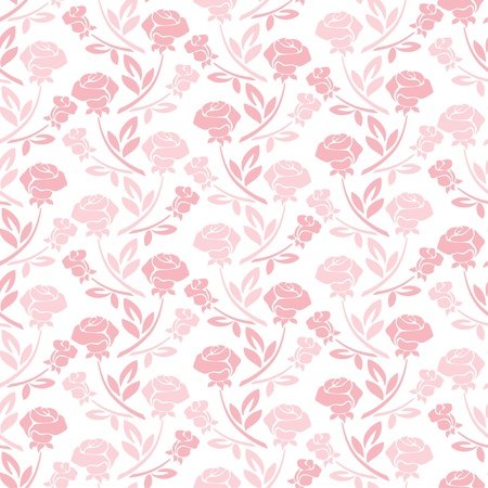 rose petal: Floral seamless pattern with rose in pastel tones