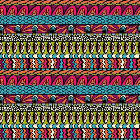 eastern culture: Colorful ethnicity ornament, seamless pattern