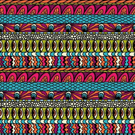 persian art: Colorful ethnicity ornament, seamless pattern