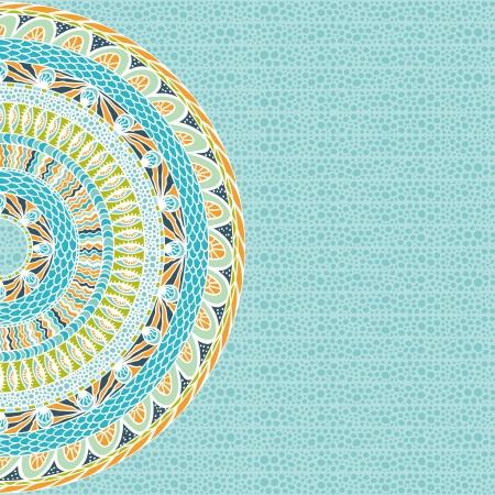 Kleurrijke etniciteit ronde ornament, mozaïek achtergrond