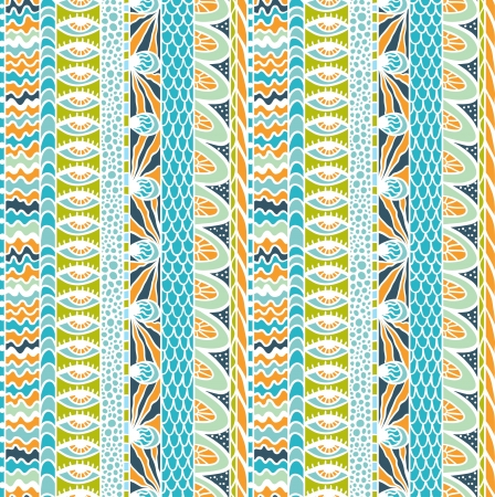 Colorful ethnicity ornament, seamless pattern  Vector