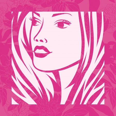 cosmetology: Abstract girl portrait  Beautiful woman silhouette