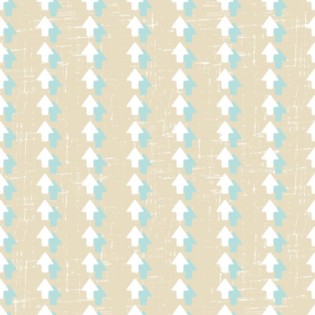 Seamless pattern with old scratched arrows  Grunge texture  Vector