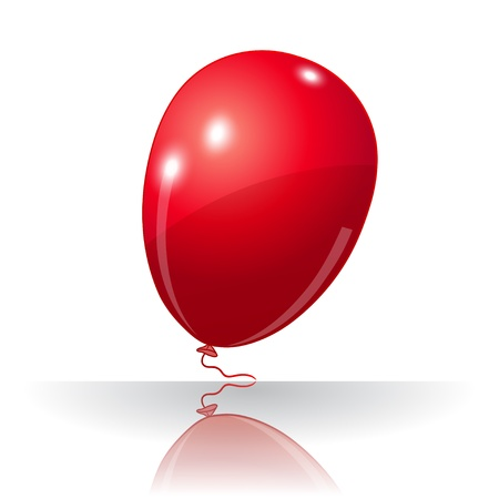 lucidity: Colorful red balloon, element for holiday background, isolated