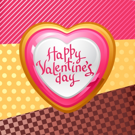 gold brown: Valentine s Day background  Gift card and flyer  Illustration