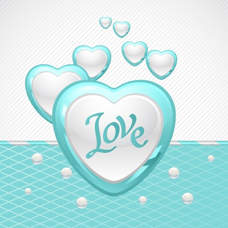 glitter heart: Valentine s Day background  Gift card and flyer  Illustration