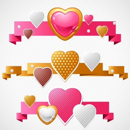 Valentine s Day background  Origami speech bubble  Vector