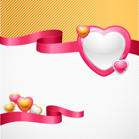 valentine s card: Valentine s Day background  Gift card and flyer  Illustration