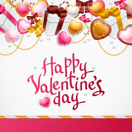 Valentine s Day background  Gift card and flyer Stock Vector - 16641882