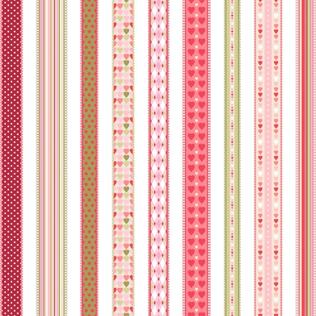 scrapbooking paper: Set of hand drawn lace braid borders