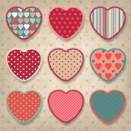 Fondo retro del diseño de la vendimia con el corazón