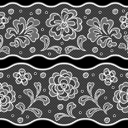 Seamless lace pattern, flower vintage vector background. Stock Vector - 16931180