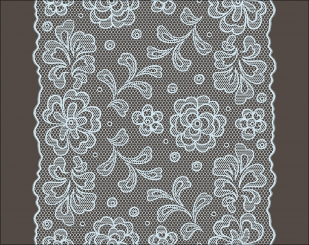 Seamless lace pattern, flower vintage vector background. Stock Vector - 16931183