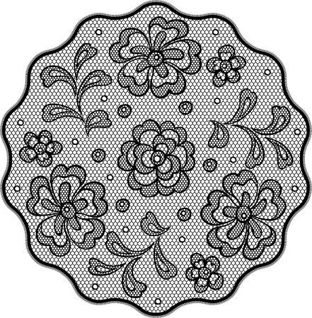 Vintage lace background ornamental flowers, invitation card. Stock Vector - 16931177