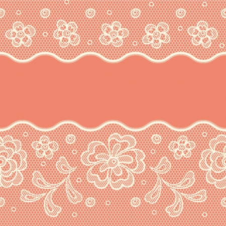 doily: Seamless lace pattern, flower vintage vector background.