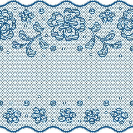 Seamless lace pattern, flower vintage vector background. Vector