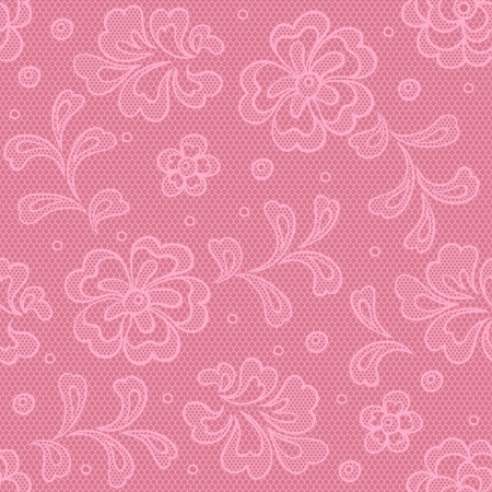 Seamless lace pattern, flower vintage vector background. Stock Vector - 16931182