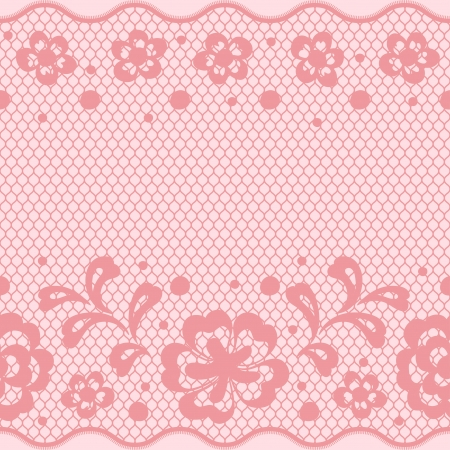 Seamless lace pattern, flower vintage vector background. Stock Vector - 16931169
