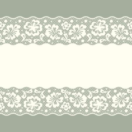 Seamless patrón de encaje, flores de fondo vector vintage.