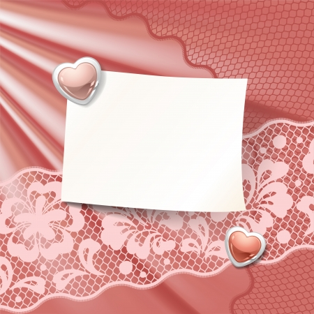 fabric samples: Vintage lace background ornamental flowers, invitation card.
