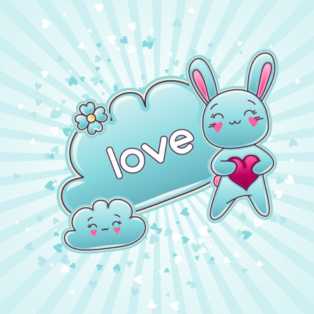 Cute child background with kawaii doodles Stock Vector - 16933439
