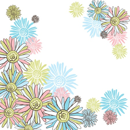 Design of vector decorative chamomiles   Flower background Stock Vector - 16948297