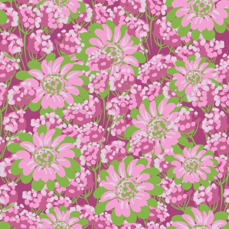 Vector Flower  Seamless Pattern  Stock Vector - 16948302
