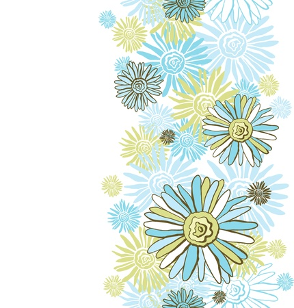 turquoise wallpaper: Design of vector decorative chamomiles   Flower background