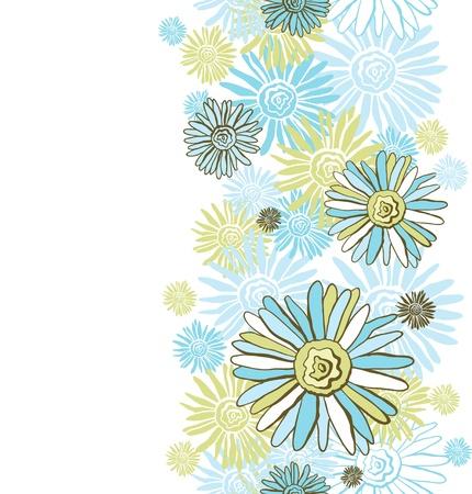 Design of vector decorative chamomiles   Flower background