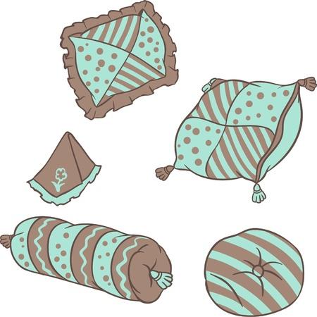 Almohadas vectoriales