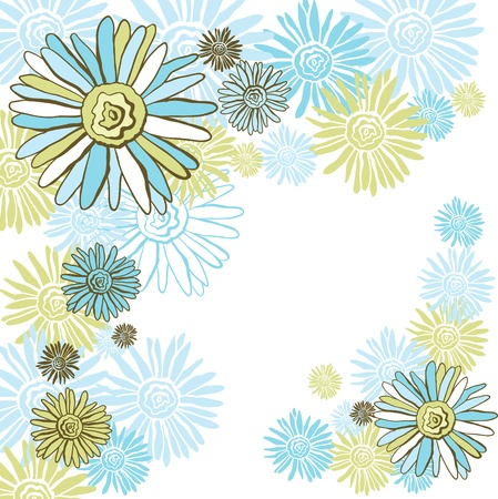 Design of vector decorative chamomiles   Flower background  Stock Vector - 16952101