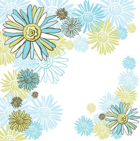 Design of vector decorative chamomiles   Flower background Stock Vector - 16952101