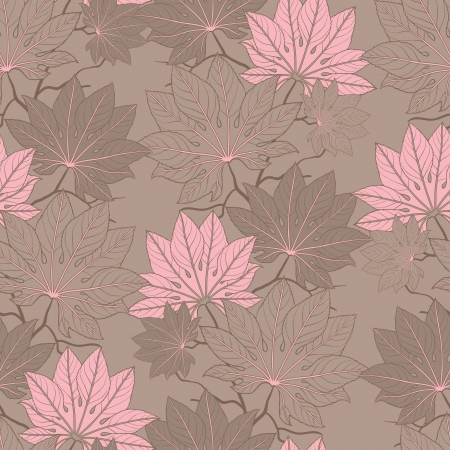 Vector illustration of leaves   Seamless Pattern  Vector