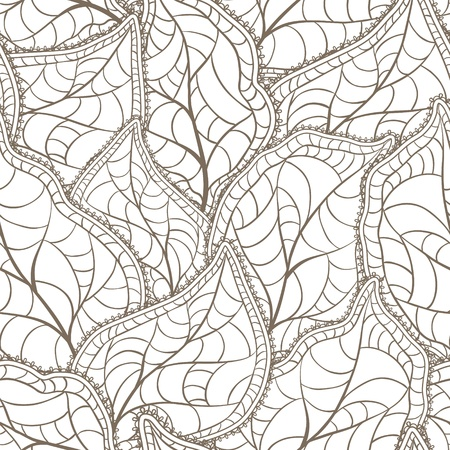Vector illustration of leaves   Seamless Pattern  Stock Vector - 16952092