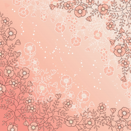 Design of vector flowers   Flower background  Vector