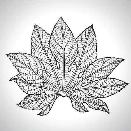 black branch: Vector Illustration Of Black Leaf