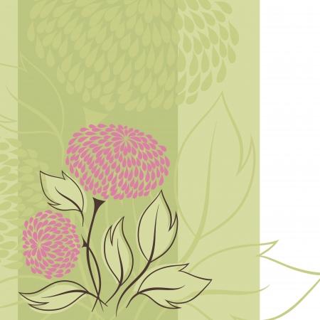 Design of flowers   Flower background Stock Vector - 16952138