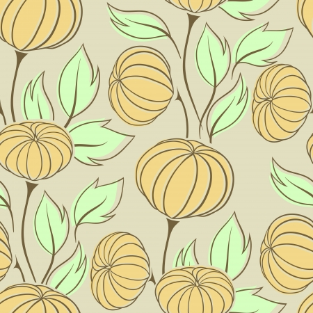 Vector illustration of pumpkins  Seamless Pattern  Vector