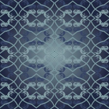 turquoise swirl: Vector illustration   Seamless Pattern