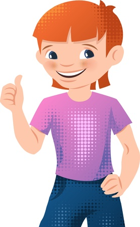 Illustration of a happy young teen boy  Stock Vector - 16958881