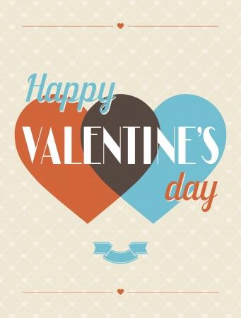 valentine background: Vintage Valentines Day type text calligraphic background