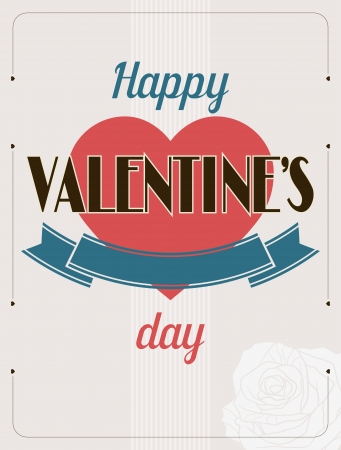 Vintage Valentines Day type text calligraphic background  Vector