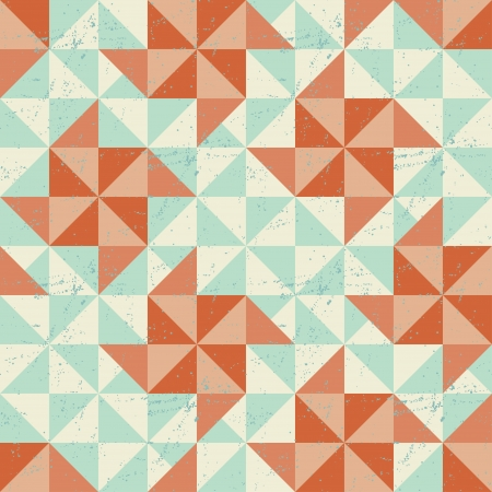 Seamless geometric pattern with origami elements  Vector