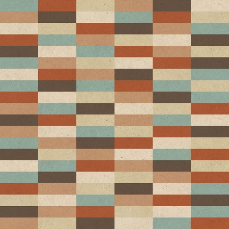 Seamless retro geometric pattern on paper texture  Stock Photo - 17160935