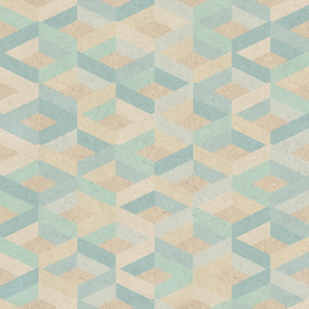 Seamless retro geometric pattern on paper texture  Stock Photo - 17160939