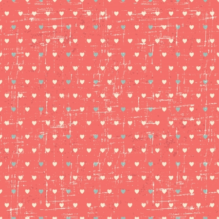 Seamless retro pattern of Valentine s hearts  Vector