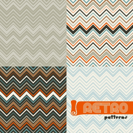 Set of four abstract retro seamless patterns  Vector