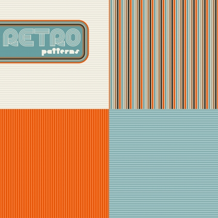 Set of four abstract retro seamless patterns Stock Vector - 17160950